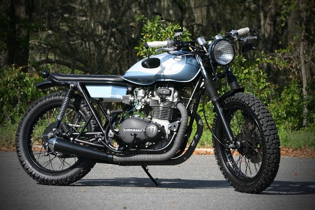 """Racing Cafè: Kawasaki KZ 400 1974 """"Nomad"""" by Analog Motorcycles"""