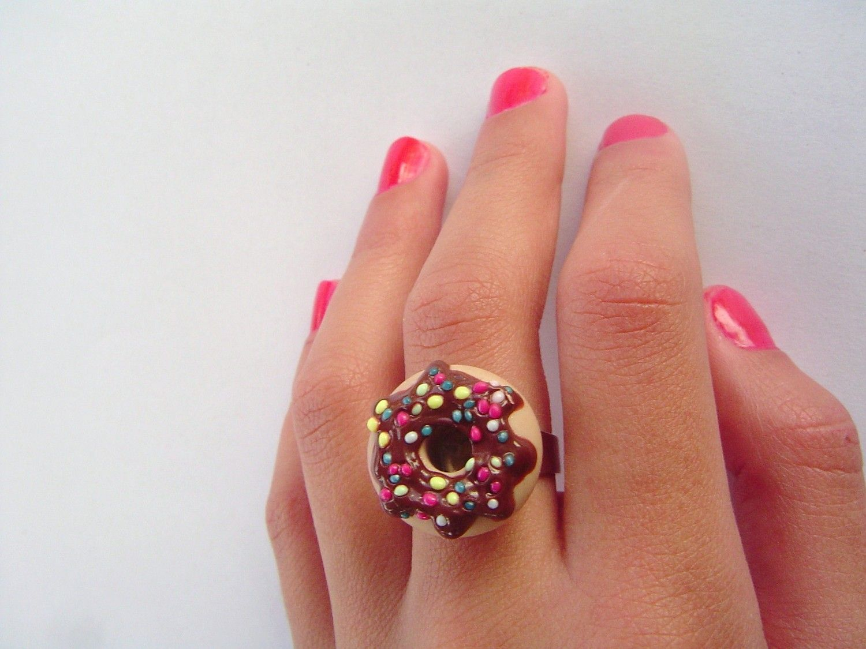 Donut Earrings by CatrinasToybox 1800 Krispy Kreme Wear