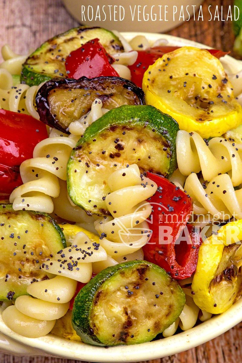 Roasted Veggie Pasta Salad – The Midnight Baker