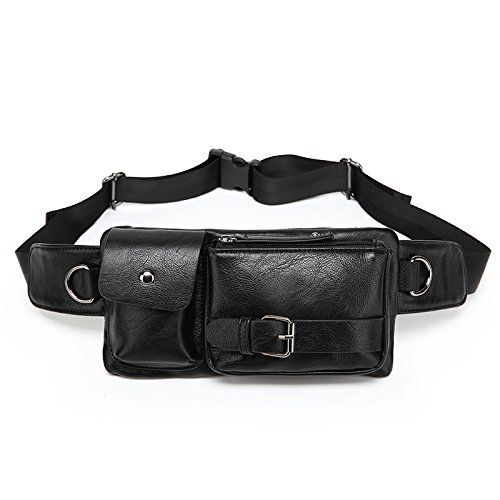 ZeleToile Newest Fashion Design Waist Bag Sports Waist Packs Bum Bag Money Day Pack Rucksack Hip Belt Bag Security Waist Money Pouch Bumbags Cycling Hiking Climbing Travel Pouch Pack  Adjustable Belt Men Black *** You can find out more details at the link of the image.