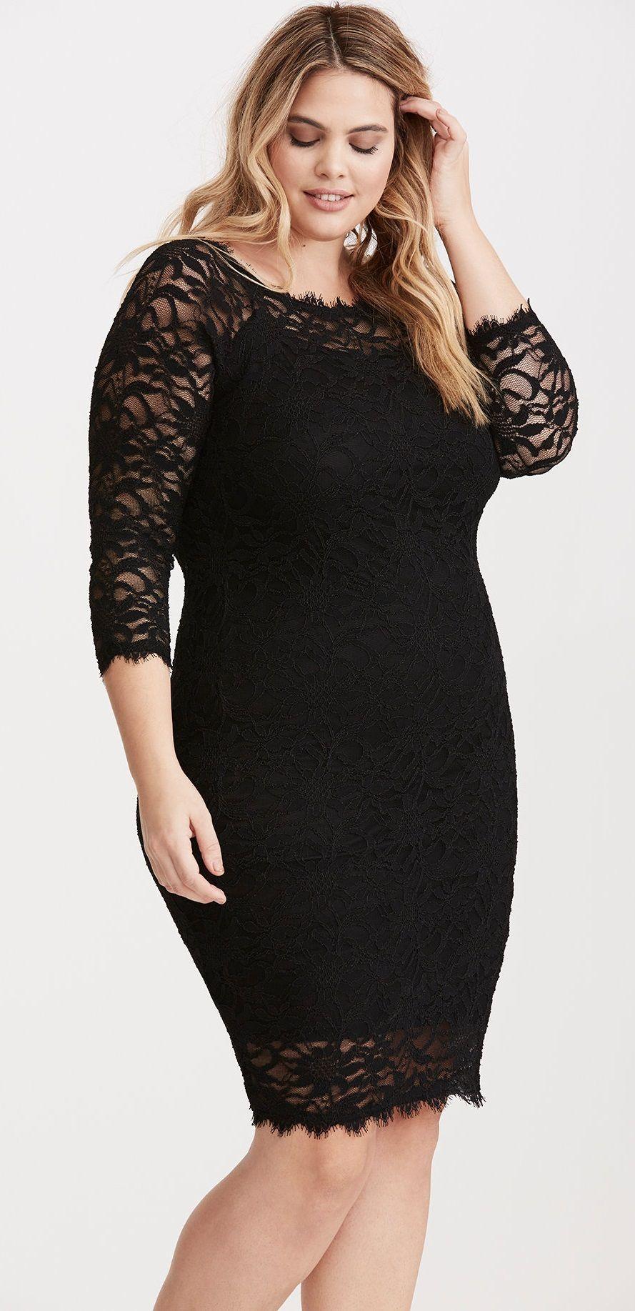 plus size lace off shoulder bodycon dress | plus size fashion