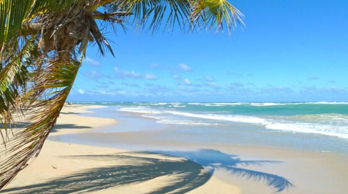 Strand på Den Dominikanske Republik, Caribien