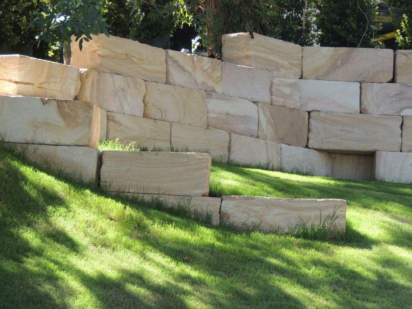 Australian Sandstone A Grade Landscape Blocks For Retaining Walls Gardens Pinterest