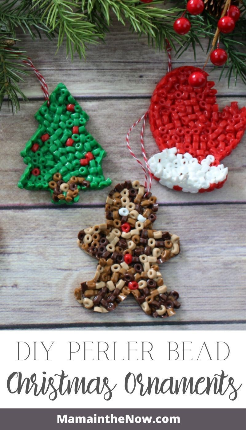Easy Toddler Approved Perler Bead Ornaments In 2020 Christmas Crafts For Kids Christmas Crafts Diy Beaded Christmas Ornaments