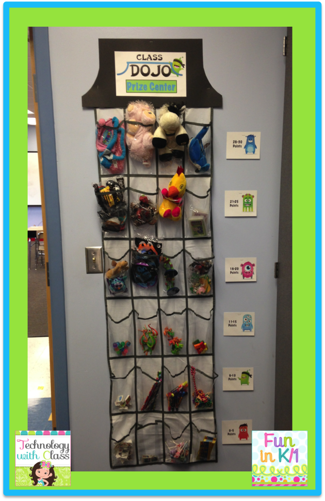 A Class DOJO Prize Center. This is an easy way to set up a