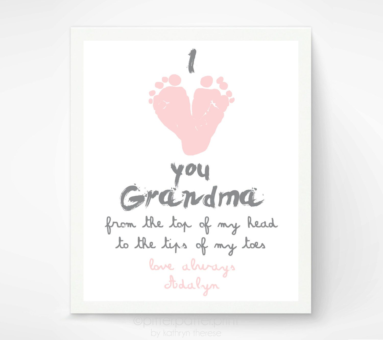 Personalized Mother's Day Gift for Grandma From Baby, I