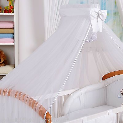 Cot Canopy Mosquito Net 480cm Large Drape for Baby Bed Floor Clamp Holder Rod
