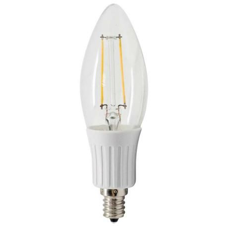 Led Non Dimmable 2 Watt Led Clear Filament Bulb By Tesler Filament Bulb Bulb Light Bulb