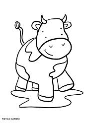 Disegni Di Mucche Da Stampare E Colorare Gratis Portale Bambini Cow Mucca Coloring Coloringpages Coloringi Pagine Da Colorare Di Natale Mucche Disegni