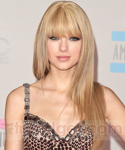 High Quality Capless Long Straight Blonde Synthetic Hair Wigs Oval Face Hairstyles Taylor Swift Hair Long Straight Hair