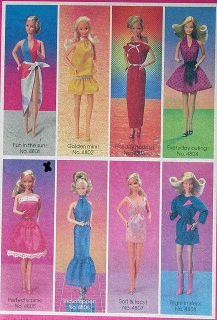 1974 Best Buy Superstar blue sleeveless dress #7749 Barbie Doll Clothing