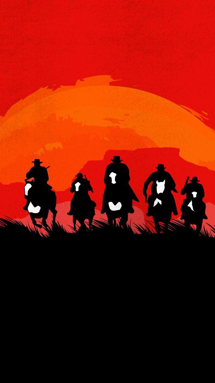 Red Dead Redemption 2, video game, artwork, 720x1280