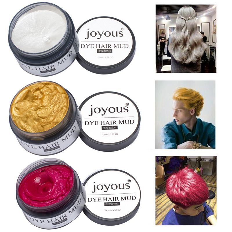 1 Adet Tek Sac Kremi Ile Erkekler Icin Moda Sac Rengi Makyaj Gecici Sac Tebesir Boya Sac 5 Renkler Icin M02298 Diy Hair Color Hair Cream Hair Color