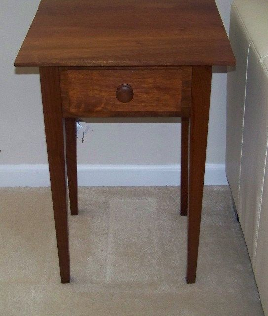 Best Solid Cherry Hand Crafted End Table Nightstand Shaker 400 x 300