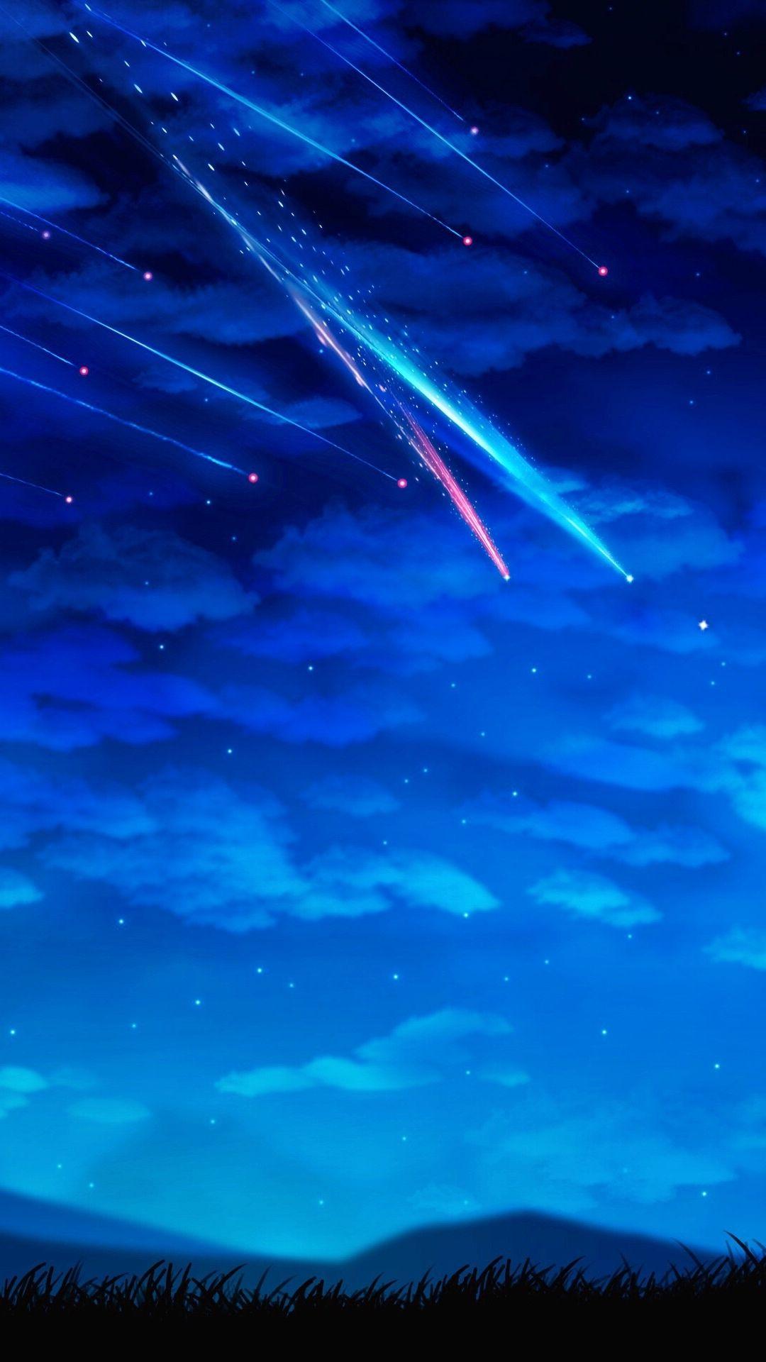 流れ星 画像あり 流れ星 イラスト 幻想的なイラスト 星空 イラスト