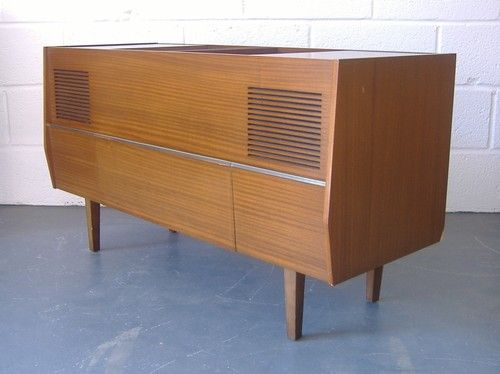 Vintage Retro 1960s 70s Record Player In Cabinet Radio Gram