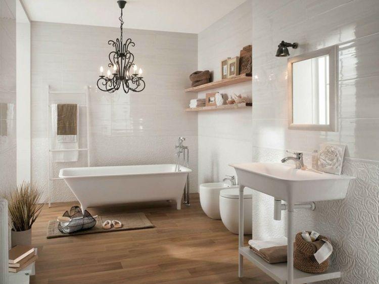 Carrelage mural salle de bain: idées et astuces design ...