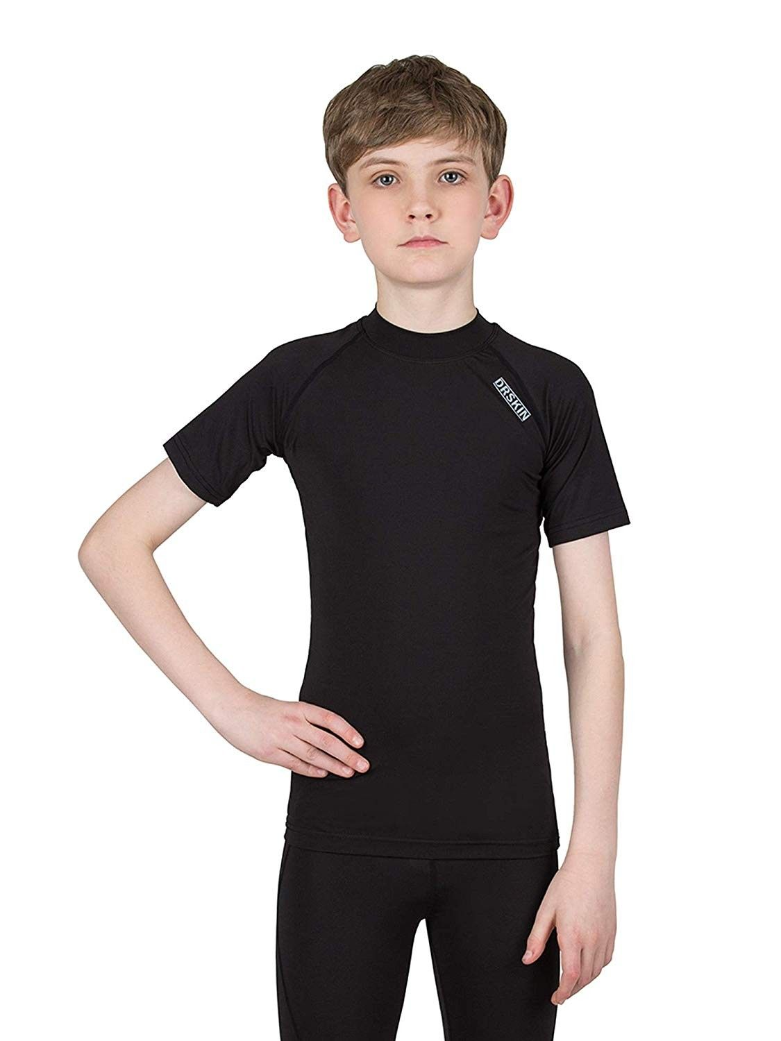 Kids' Unisex-(Boys & Girls) Long Sleeve Athletic Base Layer Compression Underwear Shirt or Tights -...