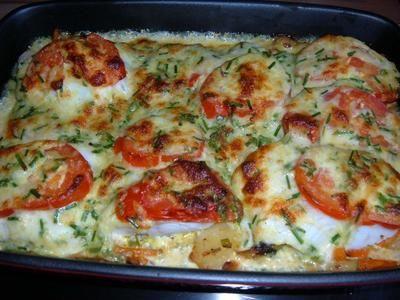 Fisch : mit Gemüse aus dem Ofen - Rezept #fishmeal