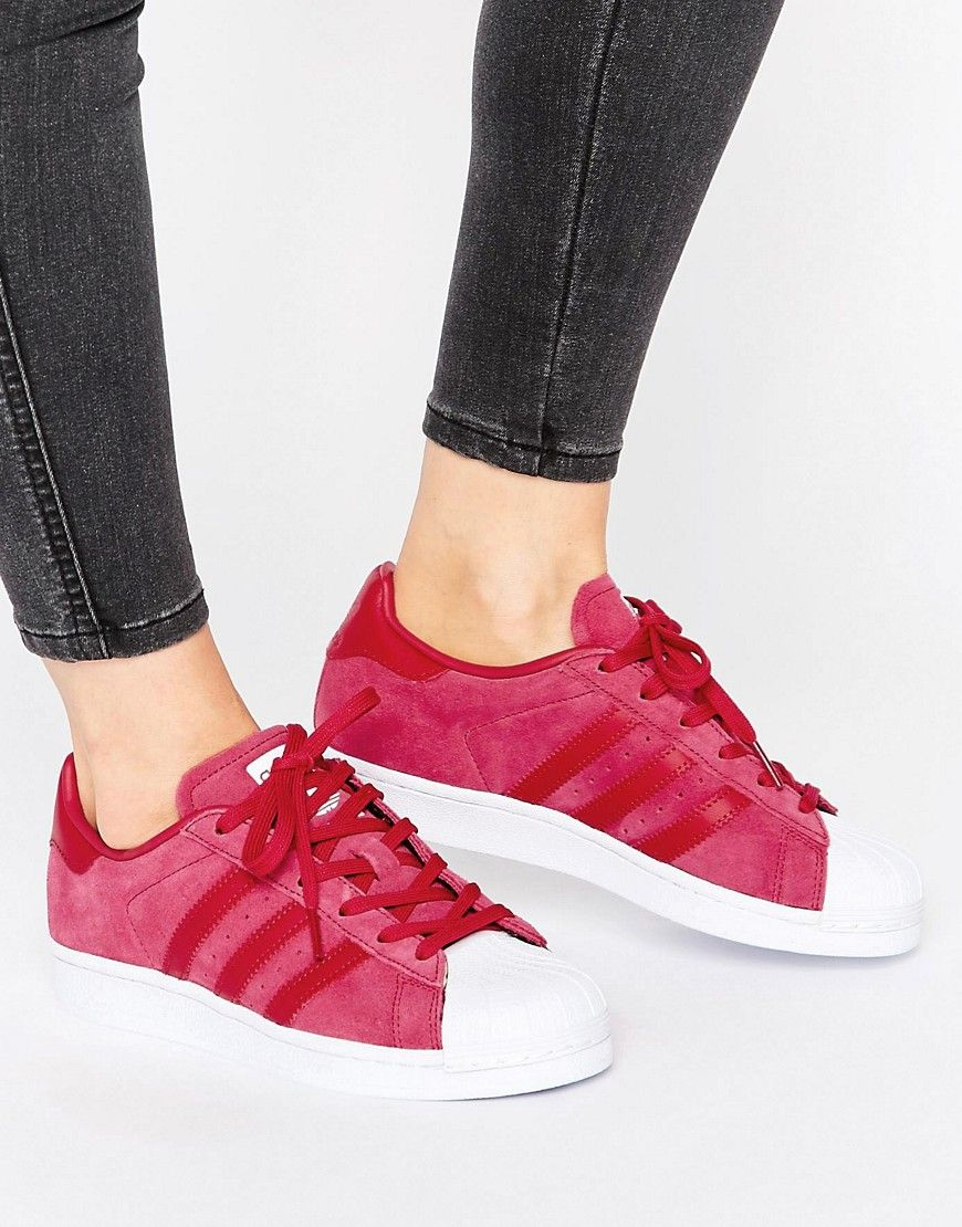 adidas originali adidas superstar scarpe di camoscio rosa originali.