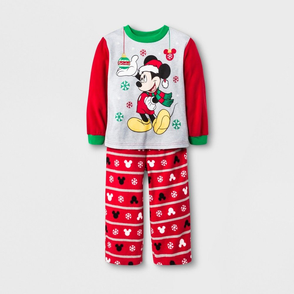 b53f4d7393 Toddler Boys  Mickey Mouse   Friends 2pc Fleece Pajama Set - Red 4T ...
