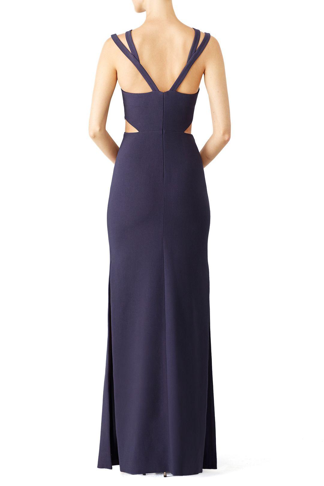 Navy Marina Cutout Gown
