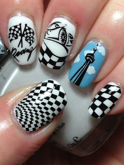Indy 500 Nails...Plus New Plates! | Inspiration for nail art - השראה ...