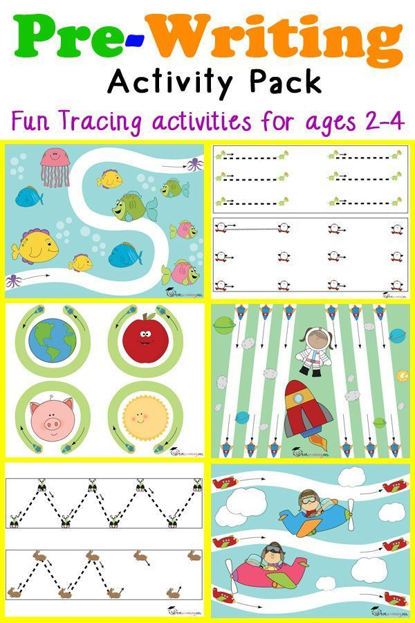 Pre Writing Tracing Pack For Toddlers Writing Guides For