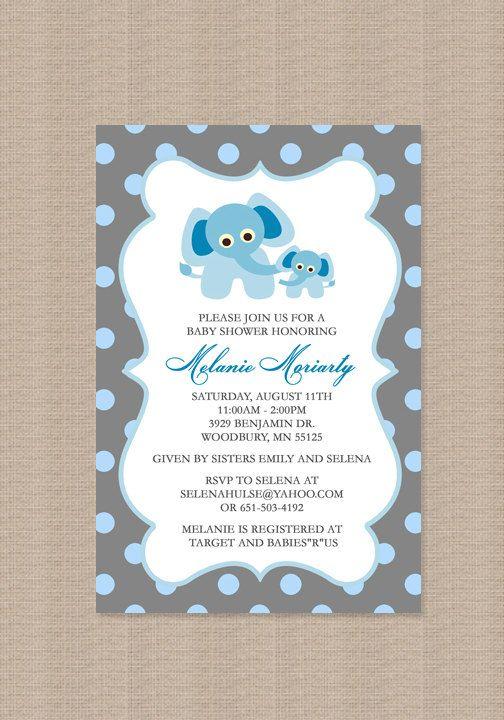 Giraffe birthday party invitation giraffe birthday invitation blue polka dot elephant baby shower invitation filmwisefo