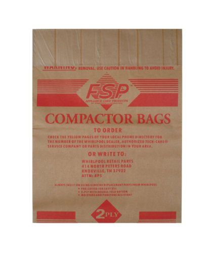 Whirlpool Paper Trash Compactor Bags 48 Count 675186