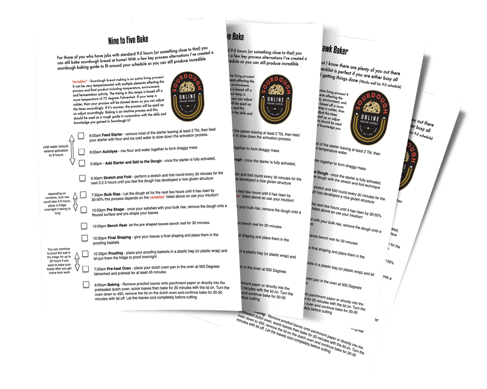 Get my 4 Sourdough Bread Baking Checklists by Pro Home