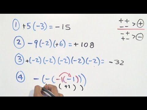 Multiplicación Y División De Números Enteros Ley De Signos Numeros Enteros Matematicas Multiplicacion