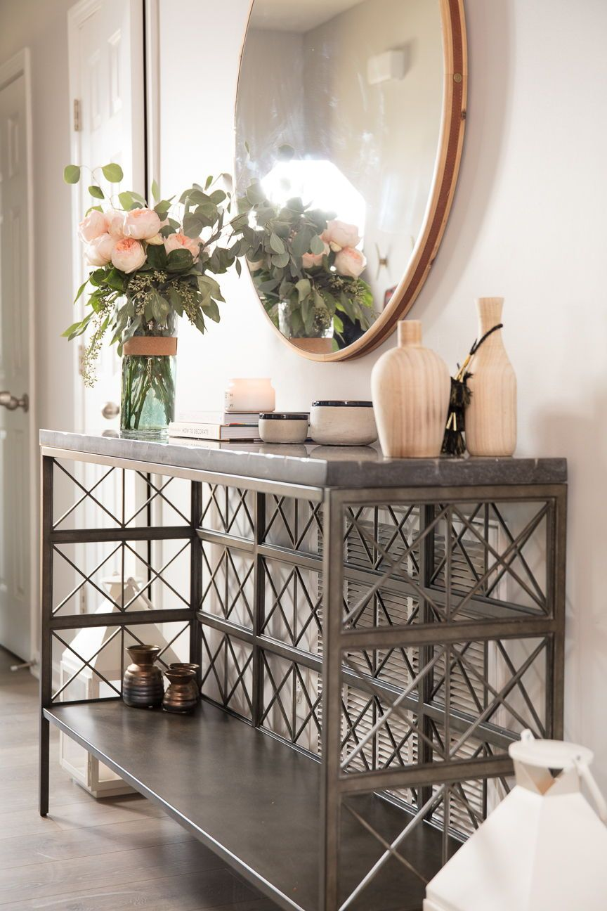 Furniture and accents that create a warm entryway! home ...