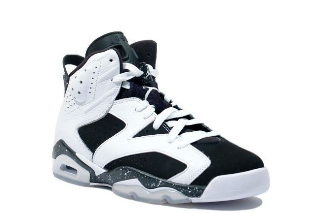 jordan retro 6 black and white