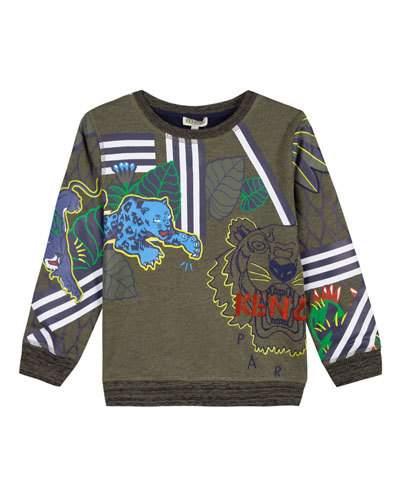 a181b36e Multi-Tiger Icon Sweatshirt Size 2-6   Products   Kenzo, Sweatshirts ...