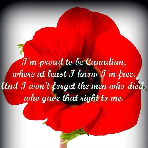 Remem Nce Day Proud Canadian