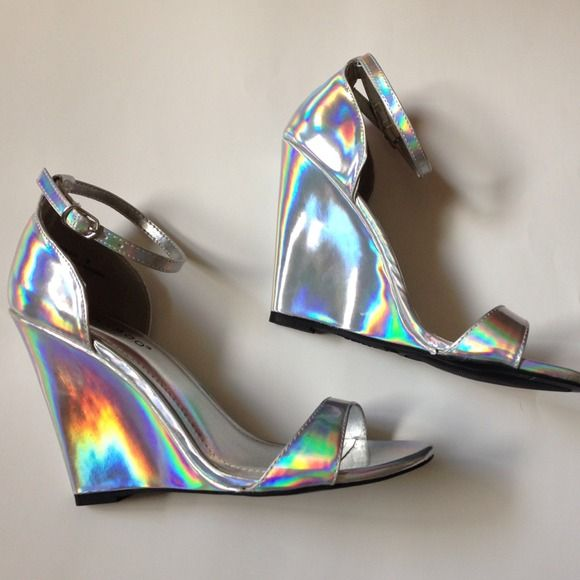 bamboo Shoes - Holographic Wedges