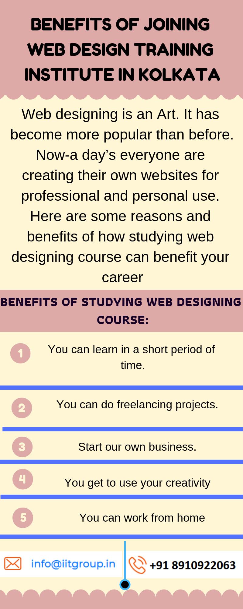 Benefits Of Joining Web Design Training Institute In Kolkata Web Design Course Web Design Training Web Design