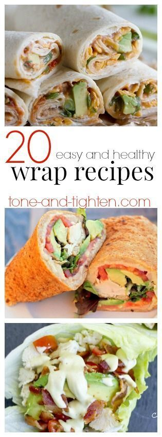 20 Easy Healthy Wrap Recipes From Tone And Tighten Com Pcos Weight