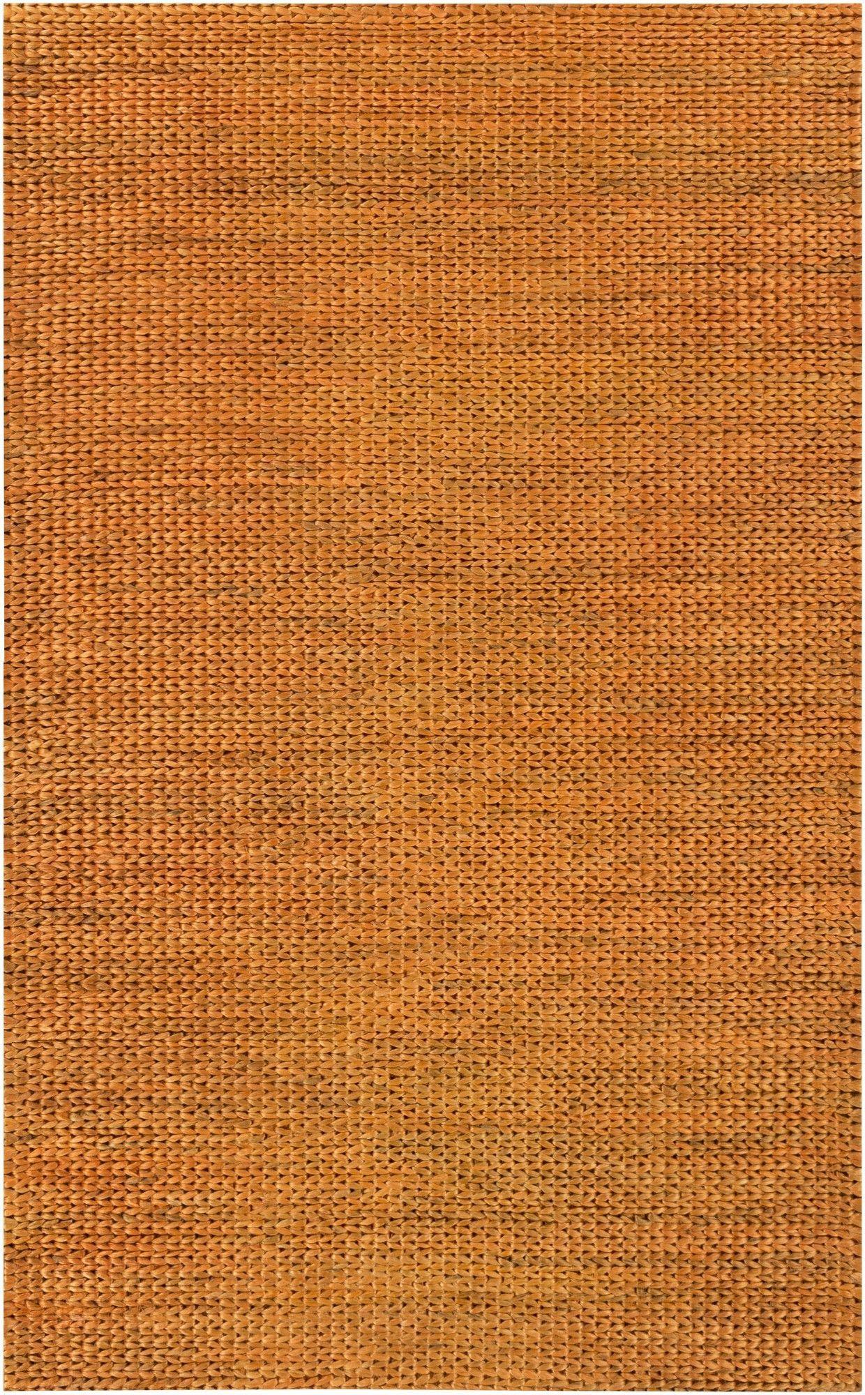 Tropics Burnt Orange Area Rug