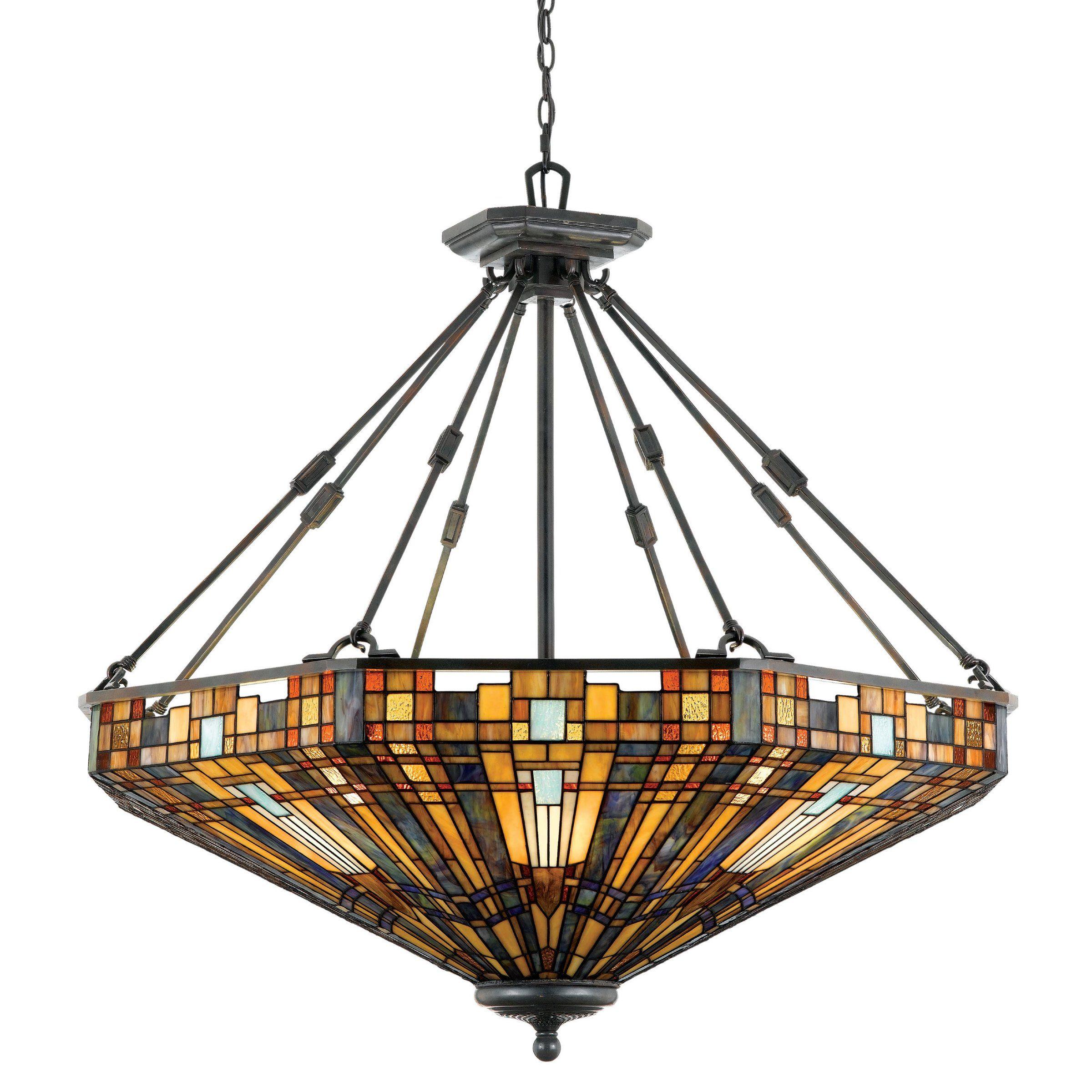 Quoizel Tfik2842va Inglenook Large Tiffany Pendant Pendant Lights At Hayneedle Victorian Lighting Pendant Light Fixtures Tiffany Chandelier Dining Room
