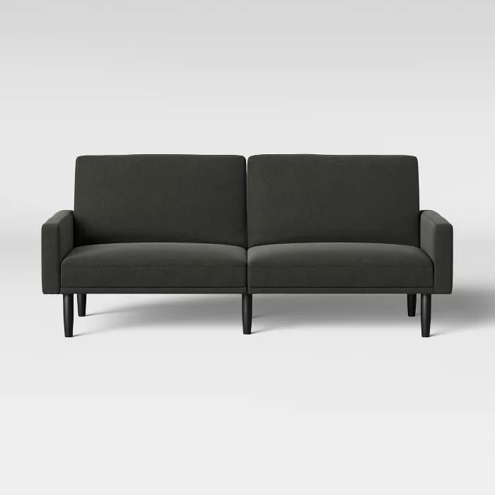 Futon With Arms Room Essentials In 2020 Futon Sofa Grey Room Room Essentials