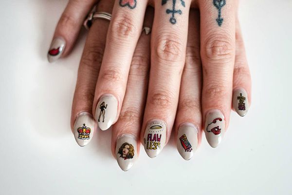 Beyonce Nail Decals Emerging Thoughts Fingernail Tips ...
