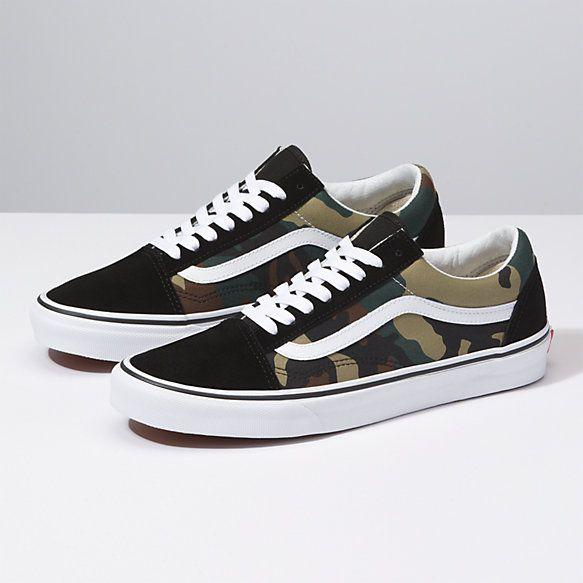 Woodland Camo Old Skool | Shop At Vans | Camo shoes, Skate