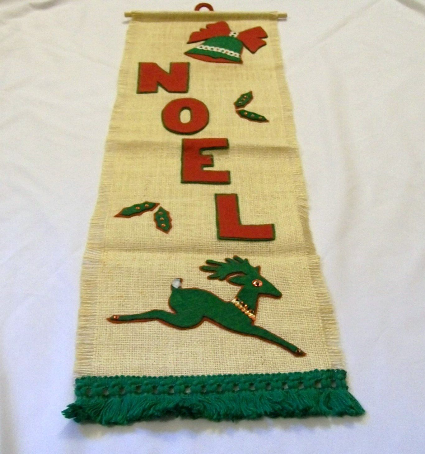 Vintage Christmas Banner, Noel Sign, Christmas Wall Hanging, Vintage ...