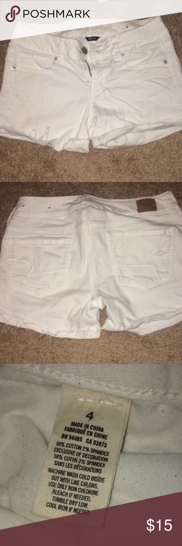 American Eagle Midi Shorts Bought these shorts last summer and loved them. Definitely a staple in every wardrobe and very wearable! These are midi style but can be rolled shorter if desired. American Eagle Outfitters Shorts