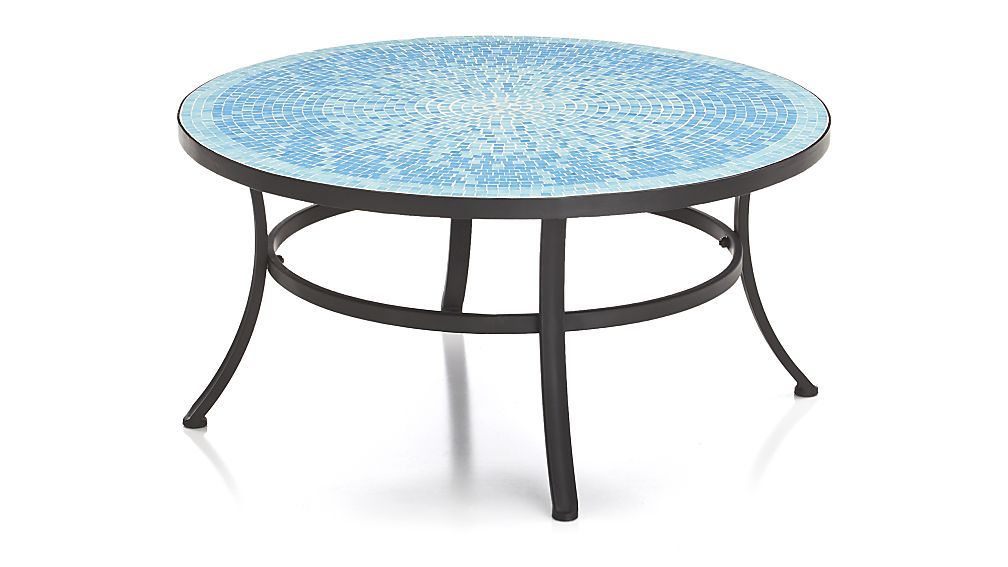 Mosaic Blue Coffee Table | Crate and Barrel | Beach House Porch ...