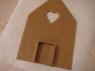 butter hearts sugar: Gingerbread House (Part One- Making and Baking) I like the heart window cut out