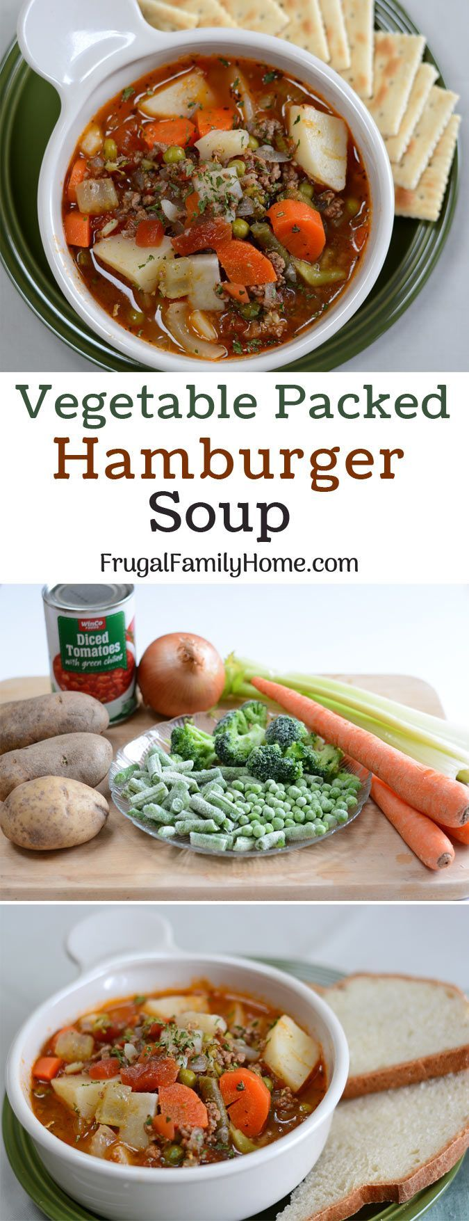 Frugal And Hearty Hamburger Soup Only 50 A Serving Recipe Frugal Meals Hamburger Soup Healthy Recipes