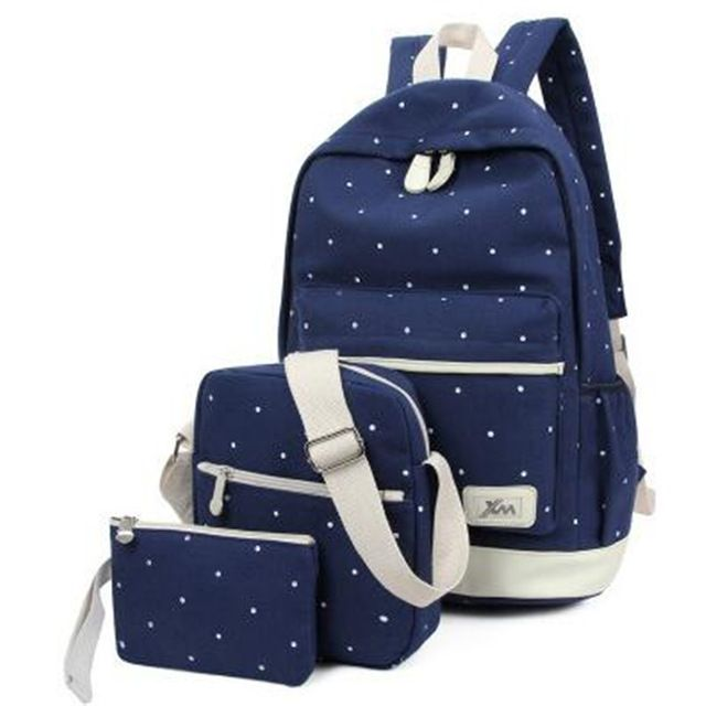 62071d7c1144 Promotion price Top Selling 3 Pcs Set Backpack Picture package Dot ...